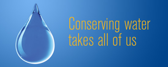 Conserving water takes all of us graphic