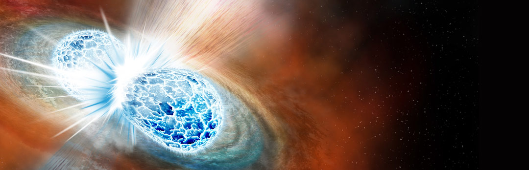 Artist rendering of neutron stars colliding